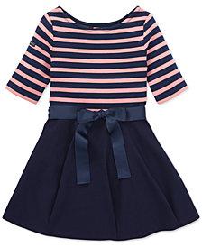 Polo Ralph Lauren Big Girls Striped Jersey-Ponté Knit Dress