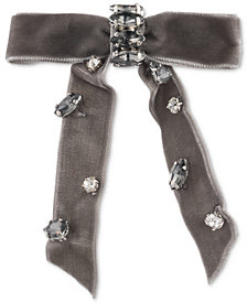 lonna & lilly Stone & Fabric Bow Hair Barrette