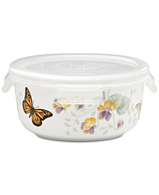 Lenox Butterfly Meadow Round Serve-N-Store with Lid