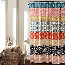 "Bohemian Stripe 72"" x 72"" Shower Curtain"