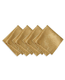 Elrene Barcelona  Gold Set of 4 Napkins