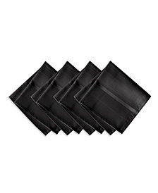 Elrene Elegance Plaid Black Set of 4 Napkins