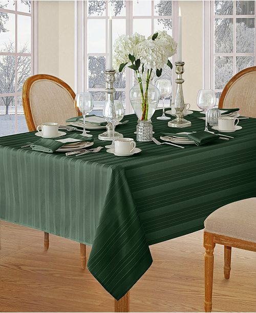 "Elrene Denley Stripe 52"" x 52"" Tablecloth"
