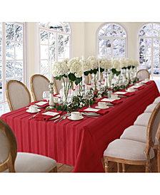 "Elrene Denley Stripe Red 52"" x 70"" Tablecloth"