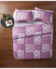 Nadia Patchwork 3-Pc. Full/Queen Quilt Set