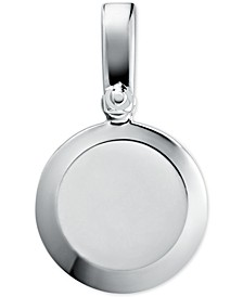 Women's Custom Kors Sterling Silver Disc Charm
