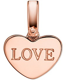 Women's Custom Kors 14K Rose Gold-Plated Sterling Silver Love Heart Charm