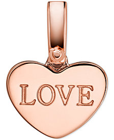 Michael Kors Women's Custom Kors 14K Rose Gold-Plated Sterling Silver Love Heart Charm