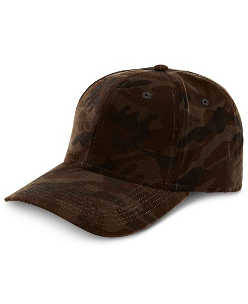 ... INC International Concepts I.N.C. Men s Camouflage Velvet Baseball Cap e9a228df83a6
