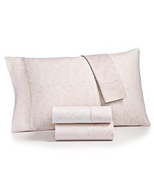 Bari 4-Pc. Paisley Printed California King Sheet Set, 350 Thread Count Cotton Blend