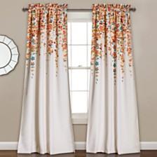"Weeping Flowers Room Darkening 52"" x 84"" Window Curtain"