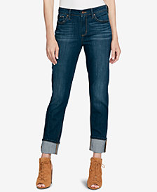 Jessica Simpson Juniors' Arrow Straight Wide-Cuff Jeans