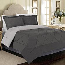 All Season Peach Skin Reversible Twin Bedding Comforter Set