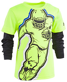 Under Armour Toddler Boys Football-Print Layered-Look T-Shirt