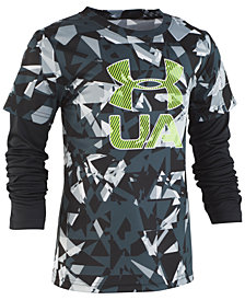 Under Armour Toddler Boys Logo-Print Layered-Look T-Shirt