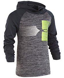 Under Armour Little Boys Twist Logo Graphic Raglan Hoodie