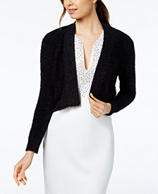 Calvin Klein Open-Front Cropped Cardigan