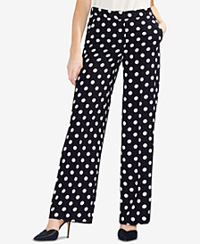 Vince Camuto Wide-Leg Polka-Dot Pants