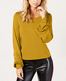I.N.C. Petite Balloon-Sleeve Top, Created for Macy's