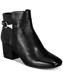 Bandolino Faruka Block Heel Zip Booties
