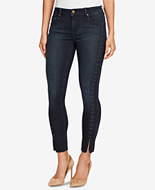 Vintage America Petite Embellished Skinny Ankle Jeans