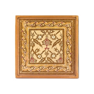 4-Piece Antigua Sand 4 Inch Coaster Set