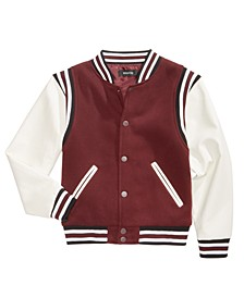 Big Boys Varsity Jacket, Created for Macy's