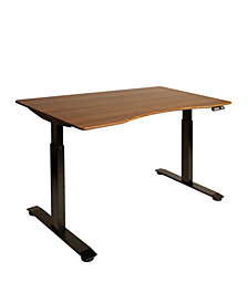Airlift 2 Electric Standing Desk Black Steel Frame With Walnut Top