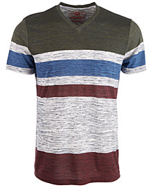 American Rag Men's V-Neck Striped T-Shirt, Created for Macy's
