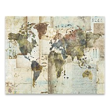 """H20 Map Printed Canvas Art - 28"""" W x 22"""" H x 1.25"""" D"""