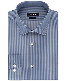 DKNY Men's Slim-Fit Stretch Stripe Dress Shirt