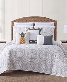 Oceanfront Resort Sunwashed Isle Gray Quilt Set Collection
