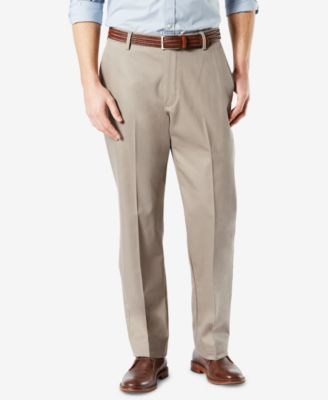 Men's Signature Lux Cotton Classic Fit Stretch Khaki Pants D3
