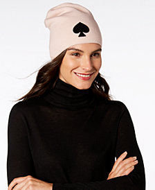 kate spade new york Solid Spade Beanie