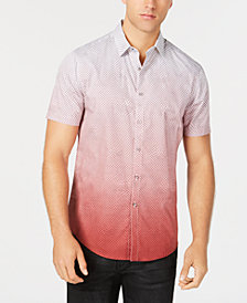 I.N.C. Men's Dip-Dyed Net Pattern Shirt, Created for Macy's