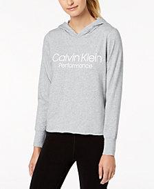 Calvin Klein Performance Logo Cropped Hoodie