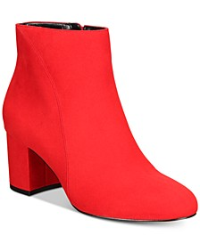 INC Floriann Block-Heel Ankle Booties, Created for Macy's