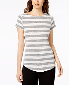 Bar III Striped T-Shirt, Created for Macy's