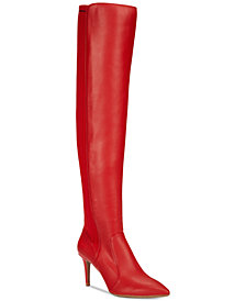 I.N.C. Izetta Over-The-Knee Sock Boots, Created for Macy's