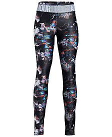 Under Armour Big Girls HeatGear Armour Printed Leggings