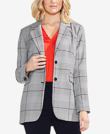 Vince Camuto Plaid Two-Button Blazer