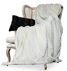 Luxe Embossed Micro Mink Full/Queen Faux Fur Blanket
