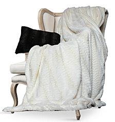 Luxe Embossed Micro Mink King Faux Fur Blanket