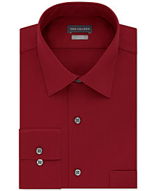 Van Heusen Men's Fitted Stretch Wrinkle Free Sateen Solid Dress Shirt