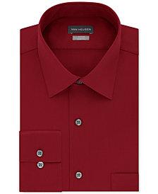 Van Heusen Men's Fitted Stretch Wrinkle Free Sateen Solid Dress Shirt