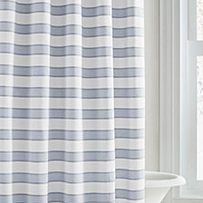 Vera Wang Linear Stripe Shower Curtain