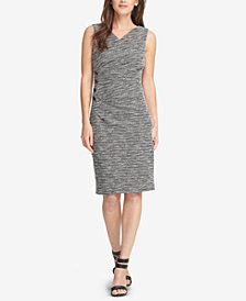 DKNY Textured V-Neck Sheath Dress, Created for Macy's