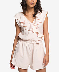 Roxy Cool Your Heart Juniors' Ruffled Surplice Romper