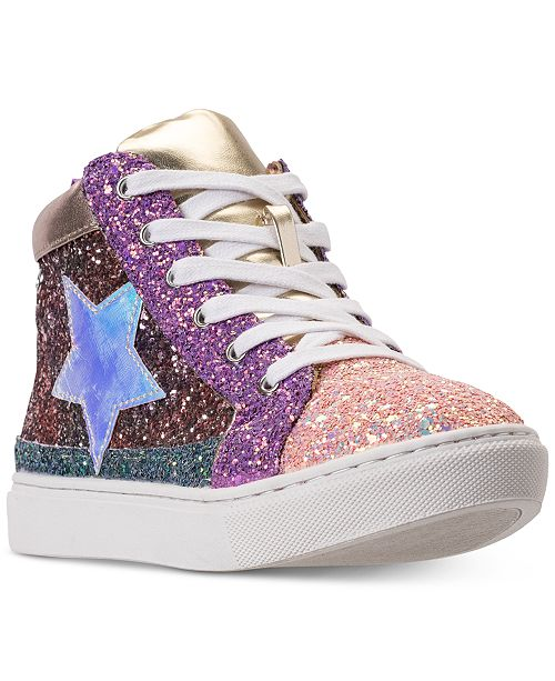3da60299f51 Steve Madden Little Girls  JHGHSTAR High Top Casual Sneakers from Finish ...