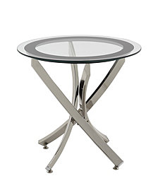 Yorkville Modern Glass Top End Table